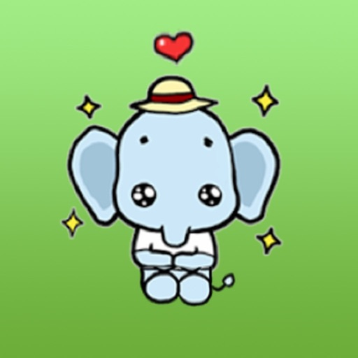 Cute Little Elephant Sticker