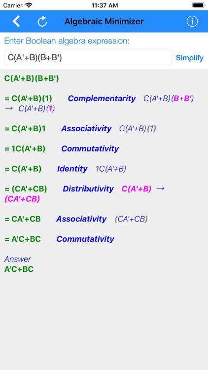 Karnaugh & Algebraic Minimizer