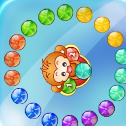 Crazy Monkey Marble Shooting
