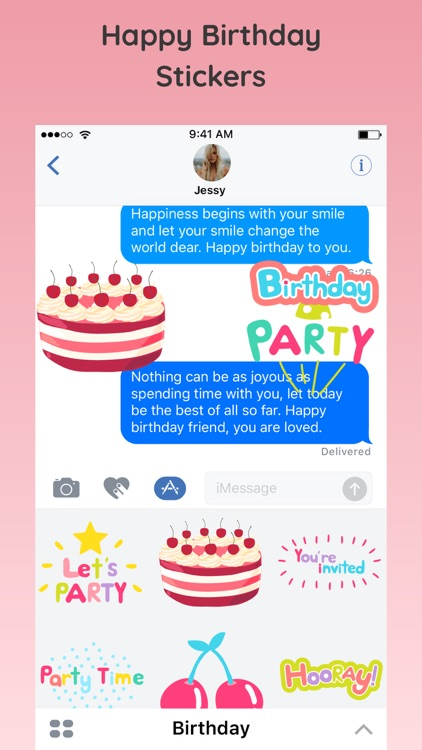 Happy Birthday Party Emoji App