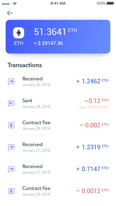 Screenshot of Secrypto Wallet App