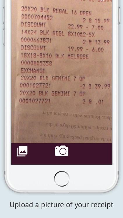 Receipts - Simple Tracker