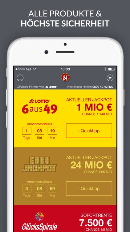 Lotto und EuroJackpot App screenshot-1