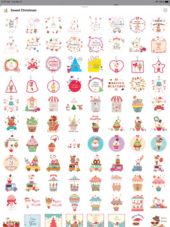 Sweet Happy Christmas Stickers screenshot 8