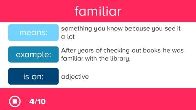 3rd Grade Vocabulary Prep screenshot for iPhone