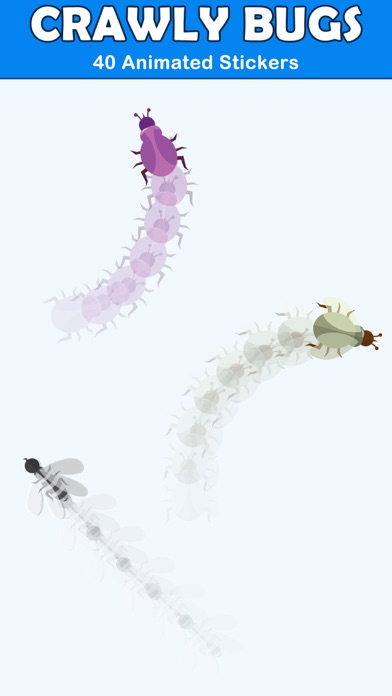 Crawly Bugs Animated Stickers screenshot 2