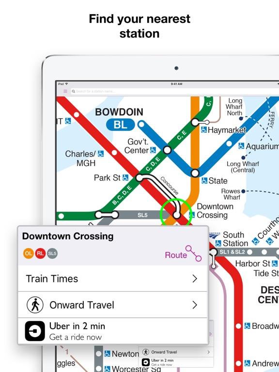 Boston Subway Map App.Boston T Map Mbta Subway Map App Price Drops