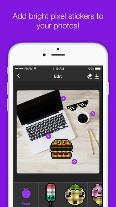 Pixelate - Add cute funny pixel stickers to photos | App Price Drops
