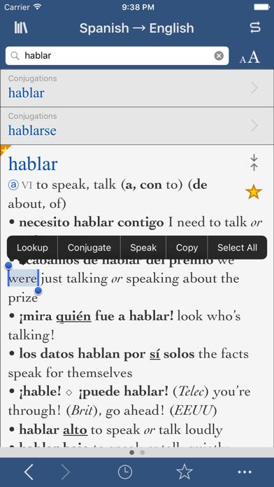 Collins Spanish-English screenshot one