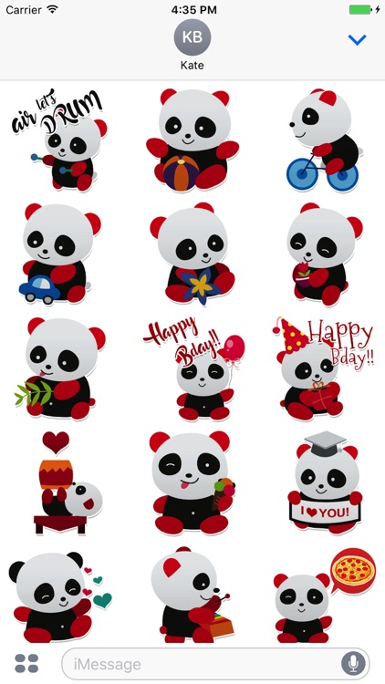 Sweet Panda Messenger Stickers