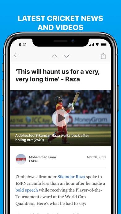 Cricinfo review screenshots