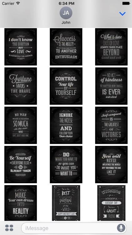 Chalkboard Quotes - Positive & Inspiration & Love screenshot-3