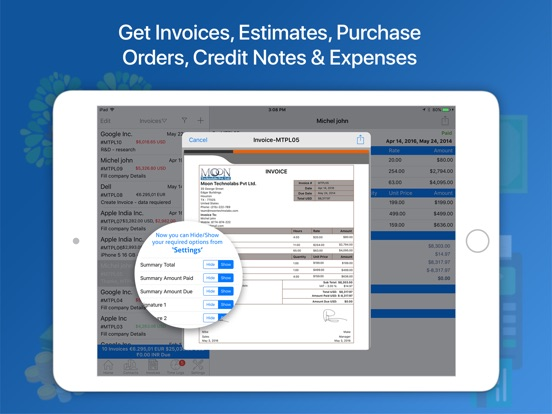 moon invoice easy invoicing app price drops