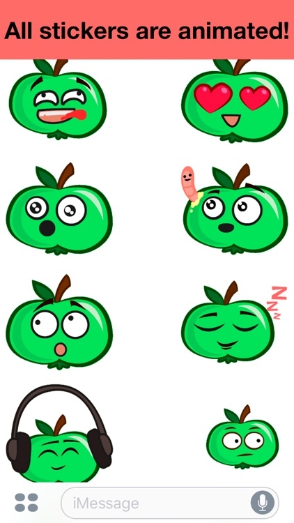 Apple animated - Cute stickers