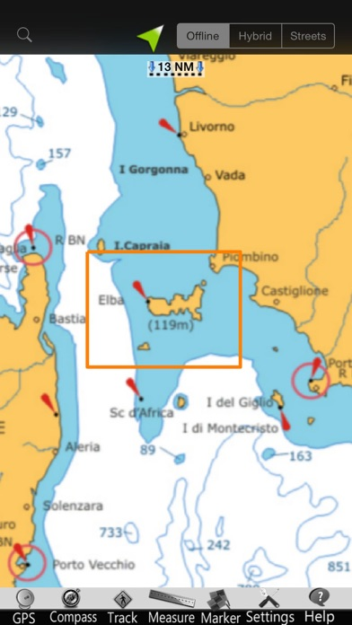 Screenshot of Isola d'Elba GPS Carta Nautica5