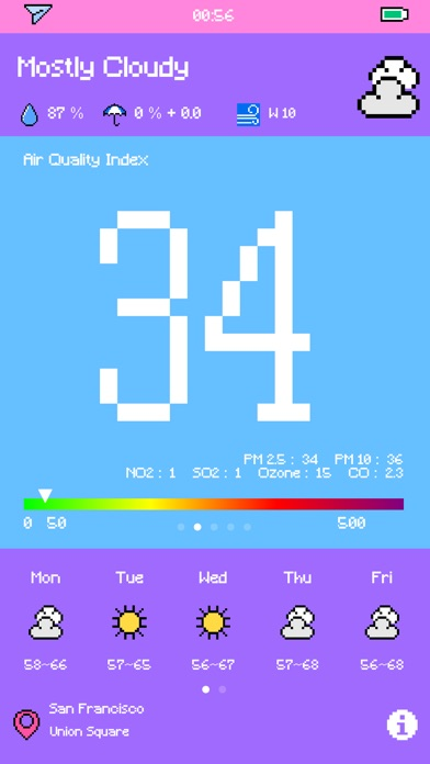 Pixel Weather - Forecast Screenshots