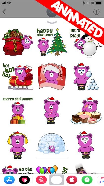 Cute Santa Bear (animated)