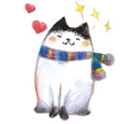 Adorable Fluffy Cat Sticker