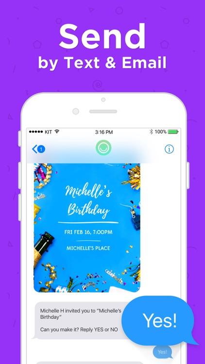 Hobnob Invitations & Text RSVP screenshot-6