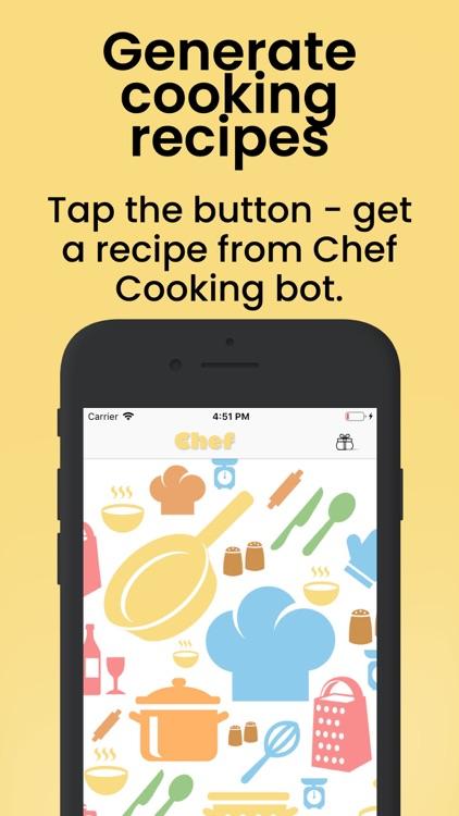 Chef - Recipes Creative bot screenshot-0