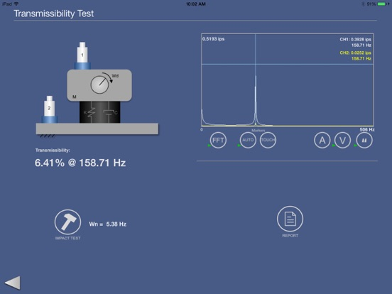 Screenshots for Vibration Transmissibility