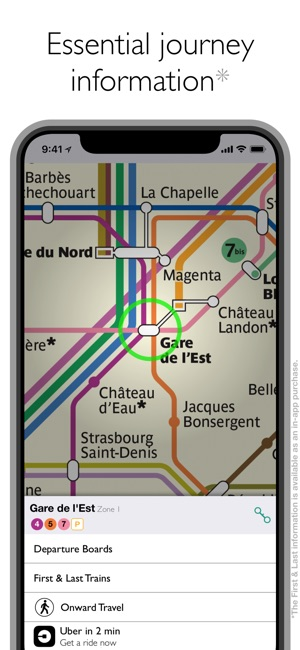 Lopen Tour Paris Map.Paris Metro Map And Routes On The App Store