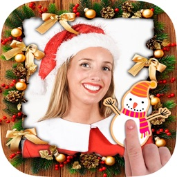 Christmas photos frame editor
