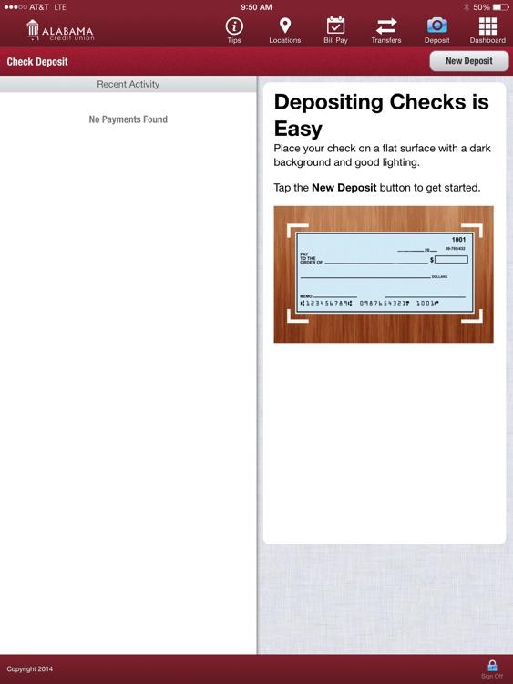 Alabama Credit Union - ACUmBranch℠ iPad Version