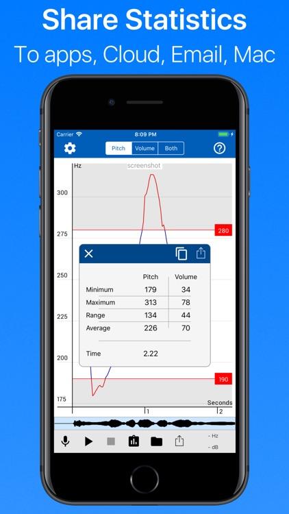 Voice Analyst: pitch & volume screenshot-4