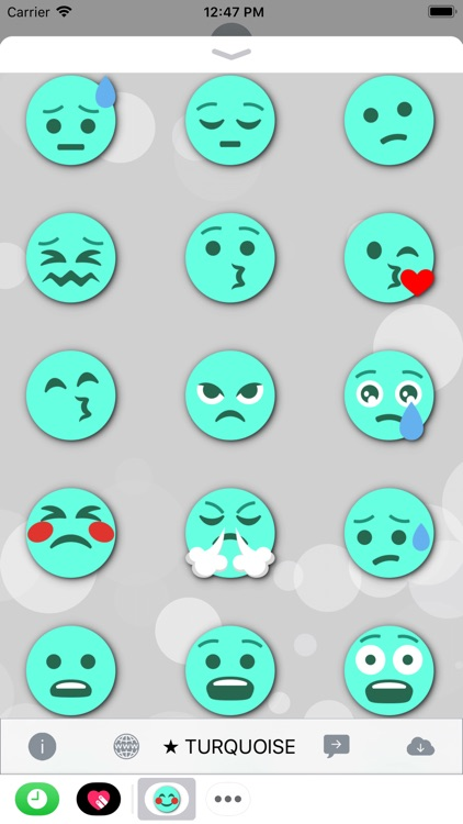 TURQUOISE Emoji • Stickers screenshot-3