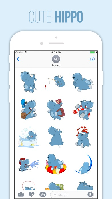 download Cute Hippo Stickers apps 1