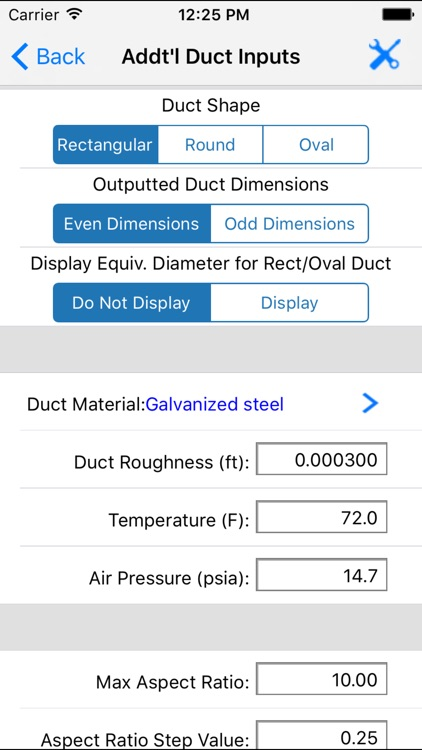 ASHRAE HVAC Duct Sizer screenshot-1