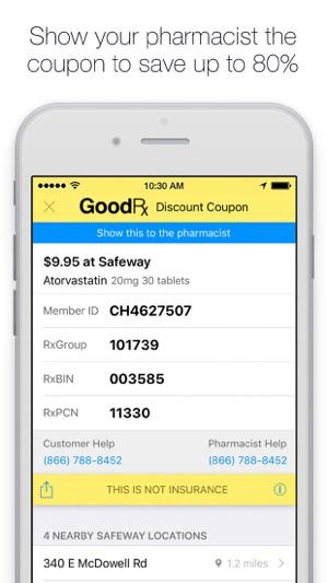 screenshots - Prescription Discount Card Reviews