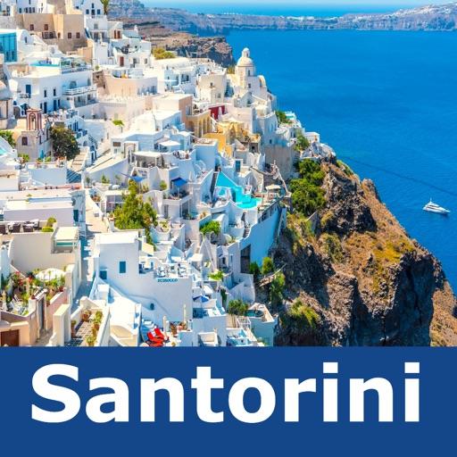 Santorini Travel Map Offline