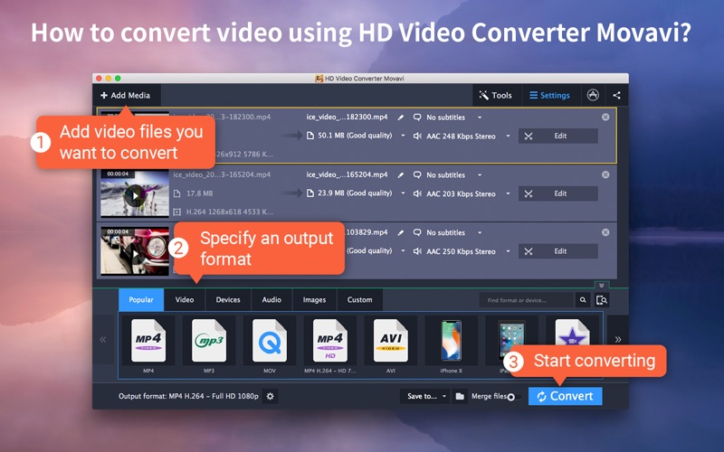 HD Video Converter Movavi Screenshots