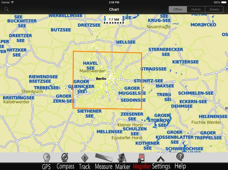 Berlin Lakes GPS Chart Pro screenshot-4