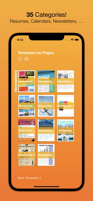 Templates For Pages Nobody On The App Store - Pages newsletter templates