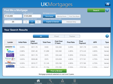 UKMortgages for iPad - náhled