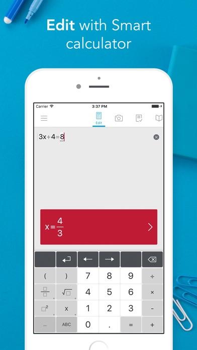 Photomath - Camera Calculator app image