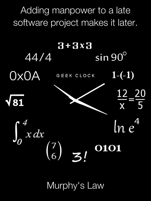 Analog Geek Clock Screenshots