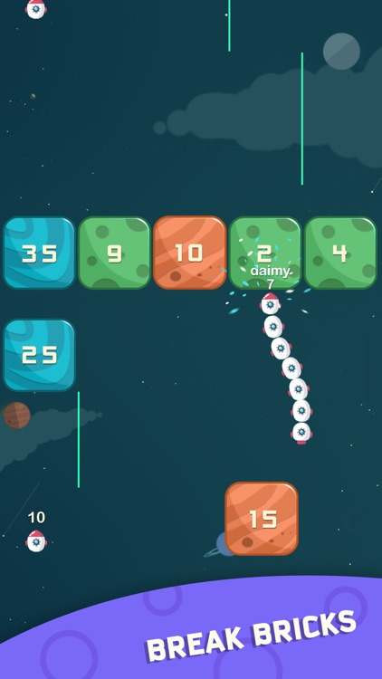 Space Race - Snake and Blocks screenshot-3