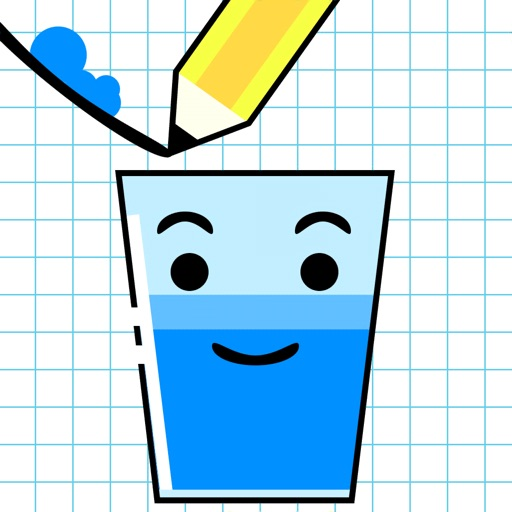 快乐玻璃杯-装满水杯glass
