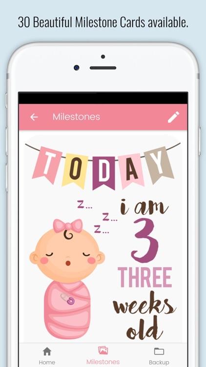 Baby Milestone Cards screenshot-3