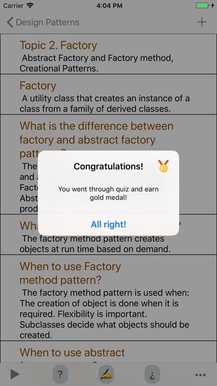 Design Patterns Interview screenshot-6