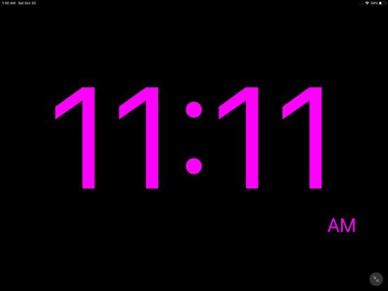 Minimalistic Bedside Clock Screenshots