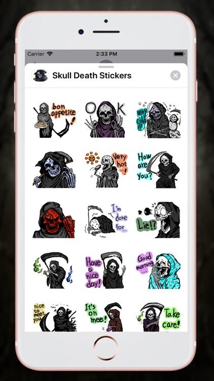 Skull Death Stickers screenshot-3