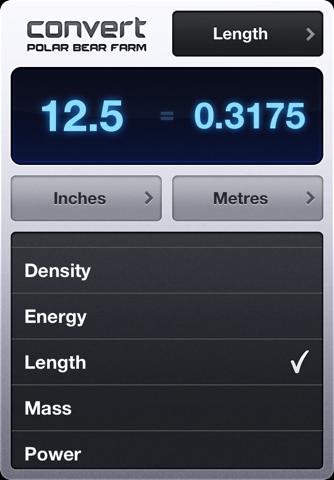Screenshot of Convert - Unit Converter (PBF)
