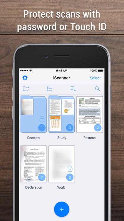 iScanner - PDF Scanner App. screenshot-4