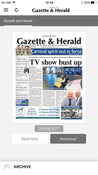 Gazette and Herald screenshot one