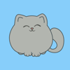 download Circle Grey Kitty Stickers